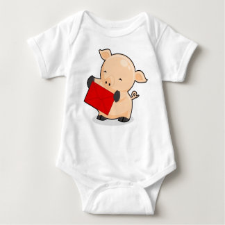 Renkoo Pig with Red Envelope Baby Bodysuit