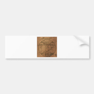 Rennaisance Encryption Vitruvian Pup Bumper Sticker