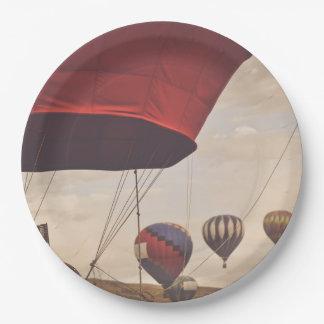 Reno Hot Air Balloon Race Paper Plate