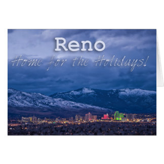 Reno Nevada Seasons Greetings Card