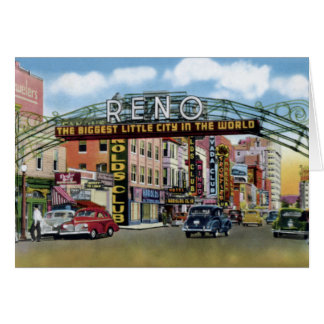 Reno Nevada Virginia Street Card