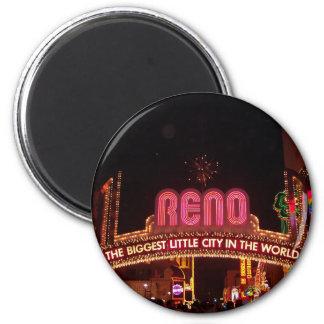 Reno Sign 6 Cm Round Magnet