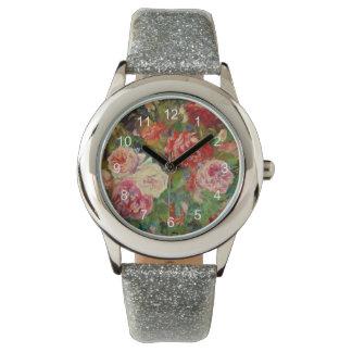 Renoir art: Roses Watch
