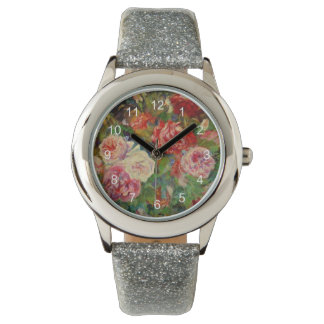 Renoir art: Roses Wristwatch