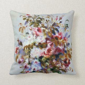 Renoir Beautiful Rose Bouquet Cushion