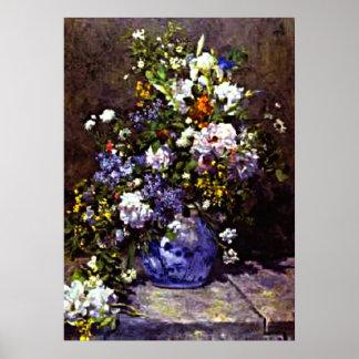 Renoir - Blue Vase Poster