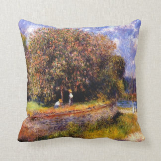 Renoir - Chestnut Tree Blooming, 1881 Cushion