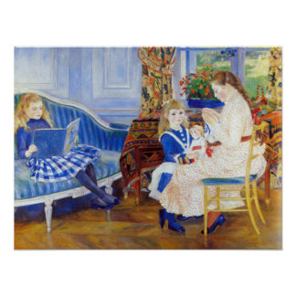 Renoir - Children in the afternoon in Wargemont Posters
