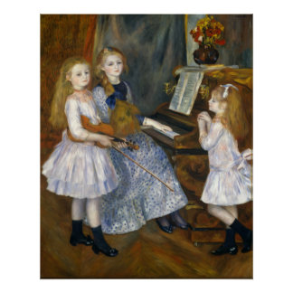 Renoir Daughters of Catulle Mends Huguette Poster