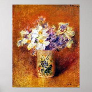 Renoir Flowers in a Vase Poster Print