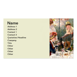 Renoir French Luncheon at the Boating Party Pack Of Standard Business Cards