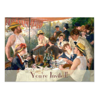 Renoir French Luncheon Boating Party Invitation