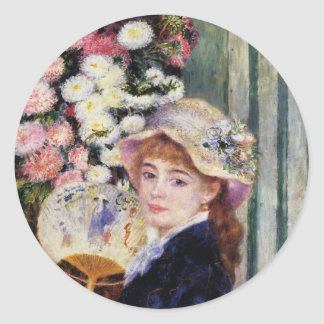 Renoir: Girl with a Fan Classic Round Sticker