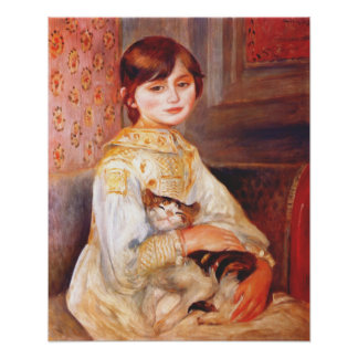 Renoir Girl With Cat Poster