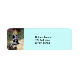 Renoir--Girl with Watering Can Return Address Label
