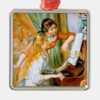 Renoir: Girls at the Piano Metal Ornament