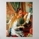Renoir Girls at the Piano Poster