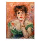 Renoir Jean Samary in a Low Necked Dress Postcard