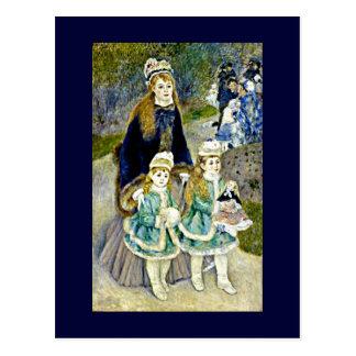 Renoir - La Promenade Postcard