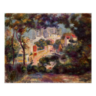 Renoir - Landscape with the view of Sacre Coeur Print