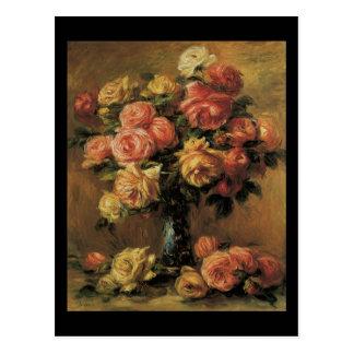 Renoir Les Roses Dans Un Vase Postcard