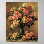 Renoir Les Roses Fine Art Poster or Print