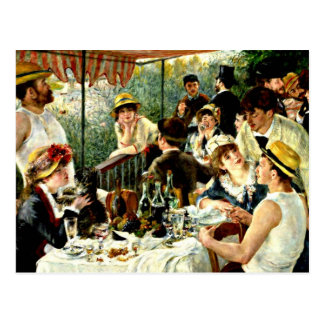 Renoir - Luncheon of the Boating Party-1881 Postcard