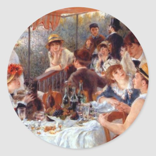 Renoir: Luncheon of the Boating Party Round Stickers