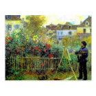 Renoir - Monet Painting in His Garden Postcard