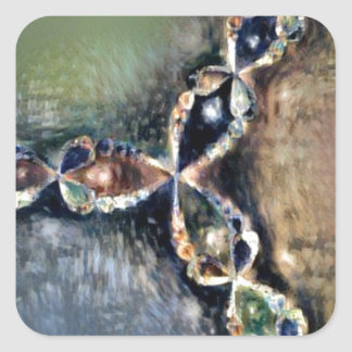 Renoir Newton's Method Fractal Square Sticker