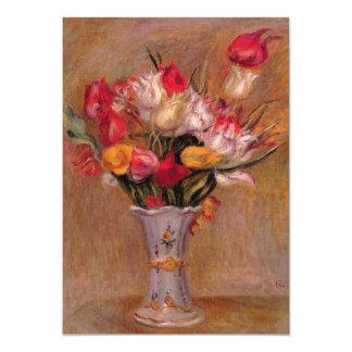 Renoir Red Tulips Birthday 13 Cm X 18 Cm Invitation Card