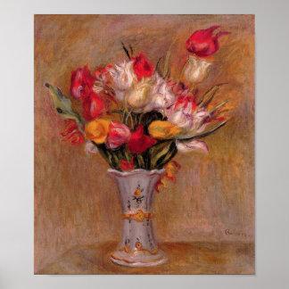 Renoir Red Tulips Fine Art Print