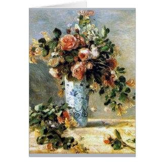 Renoir Roses and Jasmine Bouquet Card