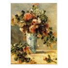 Renoir Roses and Jasmine in a Delft Vase Postcard