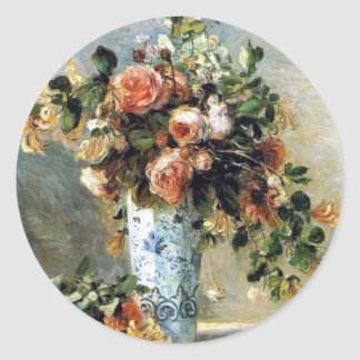 Renoir Roses and Jasmine Painting Sticker