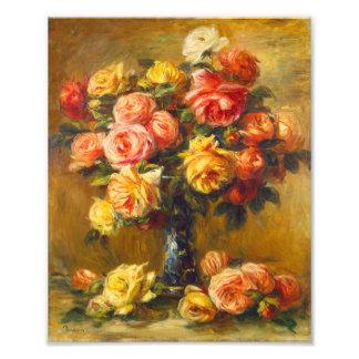 Renoir Roses in a Vase Print Photograph