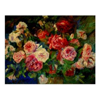 Renoir - Roses Postcard