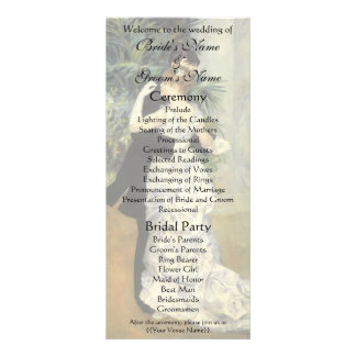 Renoir s City Dance Wedding Program Full Color Rack Card