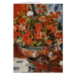 Renoir's Flowers and Cats Card