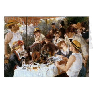 Renoir's 'Luncheon of the Boating Party' Birthday Card