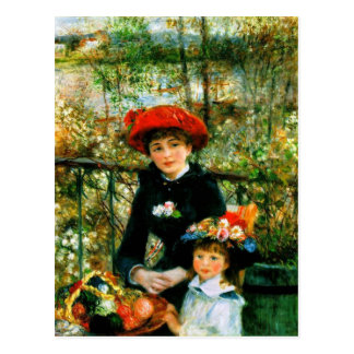 Renoir's 'The Two Sisters, On the Terrace' Postcard