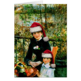 Renoir Santa Greeting Card