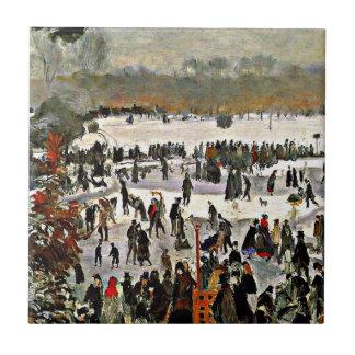 Renoir - Skaters in the Bois de Boulogne-1868 Ceramic Tile