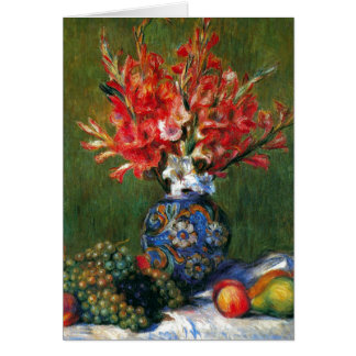 Renoir still life Flowers and Fruit art painting Card