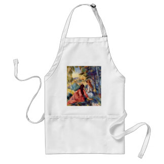 Renoir: Two Girls Sitting in Grass Adult Apron