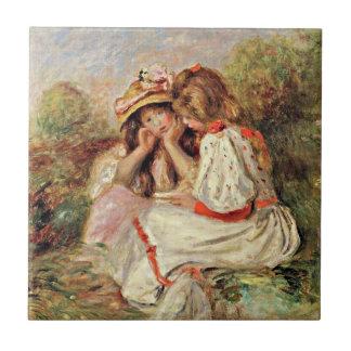 Renoir - Two Little Girls Ceramic Tile