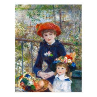 Renoir Two sisters on a terrace CC0402 Postcard