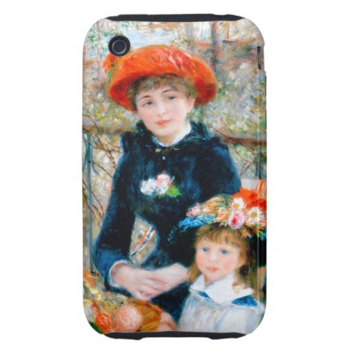 Renoir Two Sisters on Terrace Tough iPhone 3 Covers