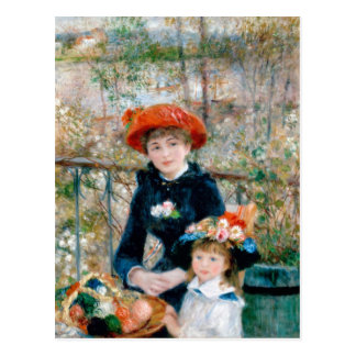 "Renoir ""Two Sisters (On the Terrace)"" Postcard"