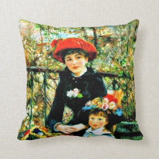 Renoir - Two Sisters on the Terrace Throw Pillow
